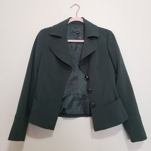Sandra Angelozzi forest green blazer